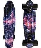 LMAI 22''Cruiser Skateboard Graphic Galaxy Dream Starry Board Complete Skateboard
