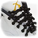 XTENEX - X300 Black 30''(PATENTED) Adjustable Eyelet Blocking No Tie Elastic Shoe Laces for an Extreme Lock In Performance Fit