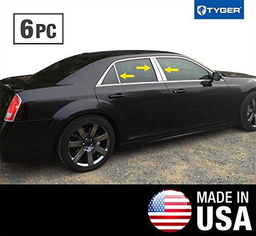 Chrysler 300 Pillar (Made In USA! Works With 2011-2017 Chrysler 300 6PC Stainless Steel Chrome Pillar Post Trim)