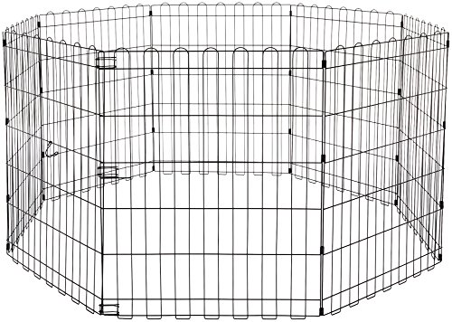 AmazonBasics Foldable Metal Pet Exercise and Playpen, 30
