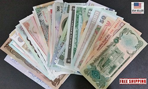 - Uncirculated Lot of 5 Different Foreign PAPER MONEY BANKNOTES WORLD CURRENCY, History Rare - Long time worth, Suitable for collector