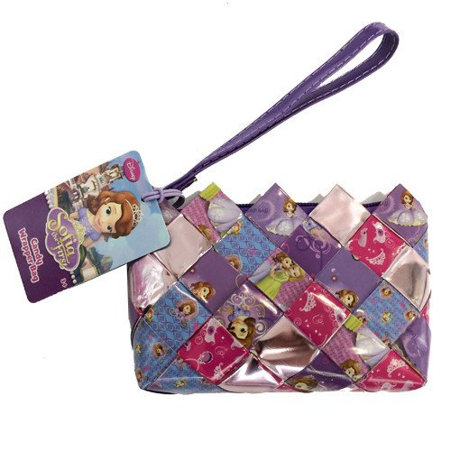 (Sofia The First Candy Wrapper Hand Woven Wristlets )
