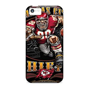 Iphone 5c MMR10909jZsd Customized Colorful Kansas City Chiefs Series Perfect Cell-phone Hard Covers -JonathanMaedel