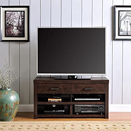 Amazon Com Altra Westbrook Dark Walnut 42 Inch Tv Stand Brown 22