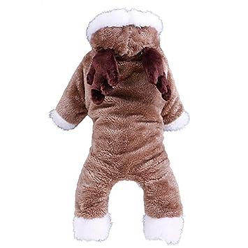 LYUH Ropa para Mascotas, Abrigos de Invierno cálido con Capucha para Perros o Gatos, Divertido Perrito de Fiesta de Navidad Ropa, para pequeños medianos ...