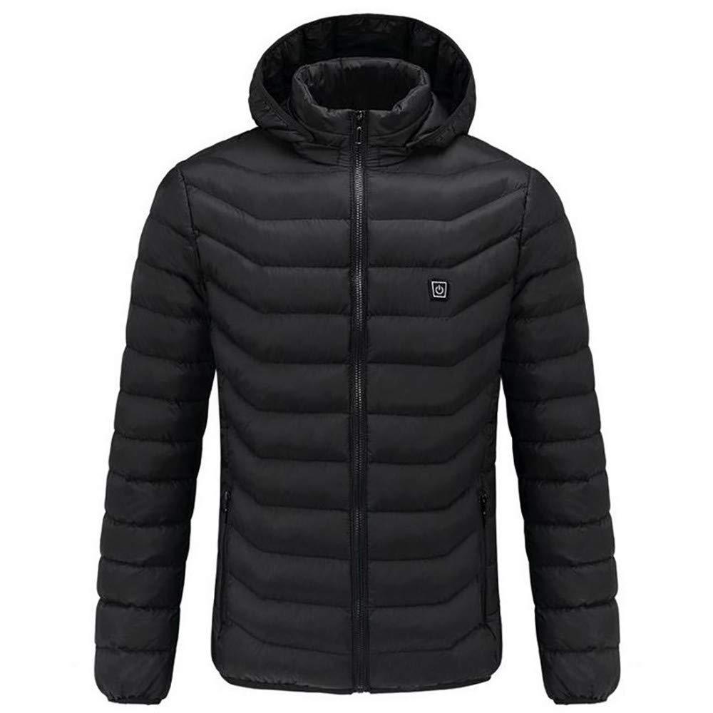 PIKAqiu33 Outdoor Warm Clothing Heated for Riding Skiing Fishing Charging Via Heated Coat