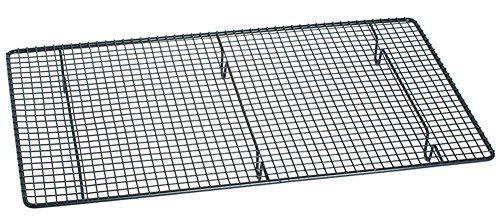 Bestwoohome Non-stick Coated BBQ Grilling Topper Grid Barbecue Baking Net Mesh Grate (Large) (Chicken Wing Baking Rack compare prices)