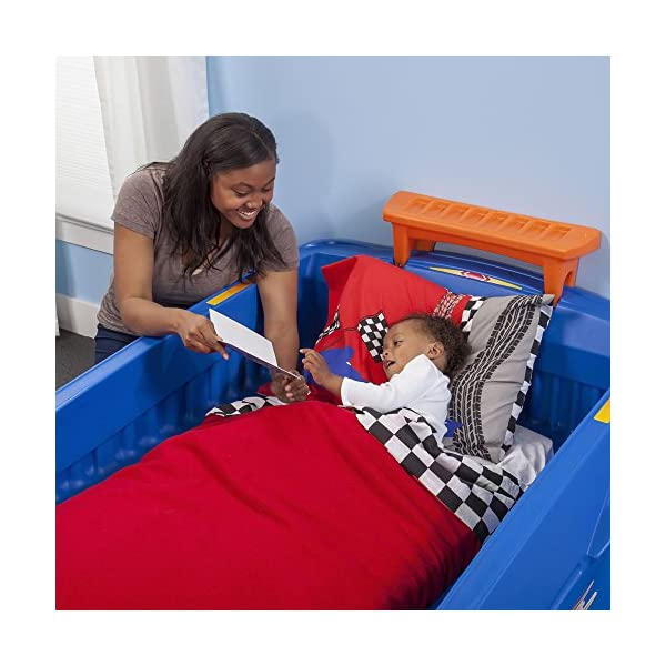 Step2 Hot Wheels Toddler to Twin Bed with Lights Vehicle 4