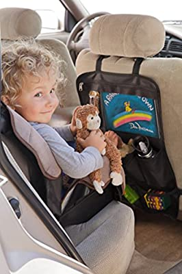 Large Backseat Car Organizer for Kids - Does Not Sag, Hooks Under Seat
