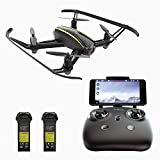 RC Quadcopter Drone with 1280x720P HD Camera, WiFi FPV Camera Wide-angle, Altitude Hold, Headless Mode, Low Battery Alarm, NEW Design of 2017