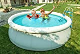 MCombo 15' Round Swimming Pool Fast Set Inflatable Above Ground with Filter Pump System 6600-1548
