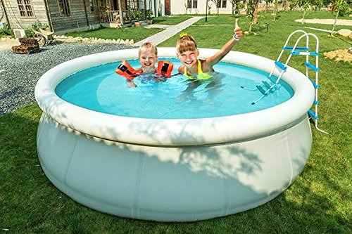 MCombo 15' Round Swimming Pool Fast Set Inflatable Above Ground with Filter Pump System 6600-1548 by MCombo