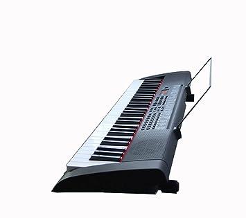 QXMEI Teclado De Piano De 61 Teclas Teclado De Adulto para Adultos Teclas De Piano Estándar Negras(Versión China): Amazon.es: Hogar