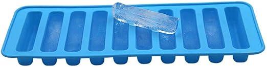 Moldes de silicona para cubitos de hielo de Alvar, 10 barras de ...