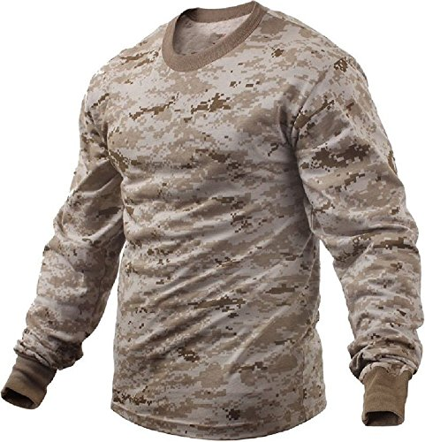 Desert Digital Camouflage Usmc Marine Military Long Sleeve T-Shirt Tactical