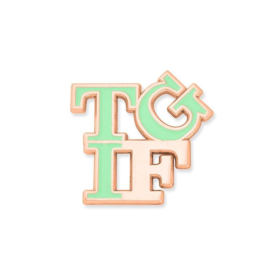 PinMart TGIF Thank God It's Friday Trendy Enamel Lapel Pin