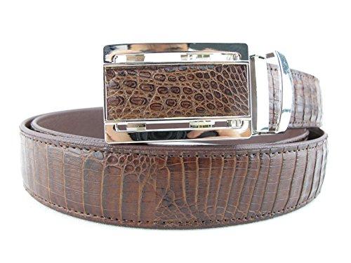PELGIO Genuine Crocodile Caiman Skin Men's Belt 46