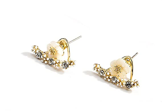 grande earrings products flower stud sweet hanging qq back woogoing