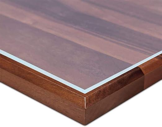 Ertex Tischdecke Tischfolie Schutzfolie Tischschutz Folie 2,2 mm 1A Qualität geeignet für den Kontakt mit Lebensmitteln (Mattiert, 90 x 160 cm)