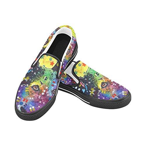 Unik Debora Anpassa Mode Kvinna Gymnastikskor Ovanliga Loafers Slip-on Tygskor Multicoloured56