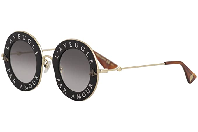 6b00339e32d Image Unavailable. Image not available for. Colour  Gucci Women s GG0113S 001  Sunglasses ...