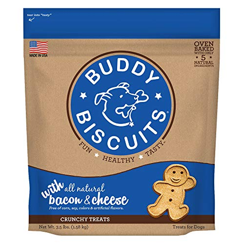 - Buddy Biscuits Original Oven Baked Treats With Bacon & Cheese - 3.5 Lb., 1 Piece