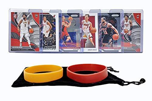 (Miami Heat Basketball Cards: Josh Richardson, Goran Dragic, Dwyane Wade, Hassan Whiteside, Kelly Olynyk, Dion Waiters ASSORTED Basketball Trading Card and Wristbands Bundle)