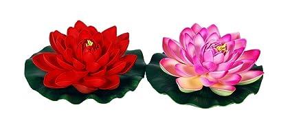 Buy odishabazaar floating lotus flower pink and red set of 2 online odishabazaar floating lotus flower pink and red set of 2 mightylinksfo
