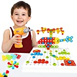 Kids Drill Tinker Board Activity Toy, Educational STEM Building Toy with Drill and Screwdriver Tool Set for Toddlers, Best Gift for Preschool Kids Boys Girls Age 3 - 6