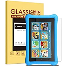 Fire Kids Edition / Fire 7 Inch (2015) Screen Protector, SPARIN Bubble-Free Tempered Glass Screen Protector ONLY for Fire 7 Inch Tablet (5th Gen, 2015 Release)