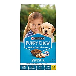 Purina Puppy Chow High Protein Dry Puppy Food, Complete With Real Chicken – 8.8 lb. Bag