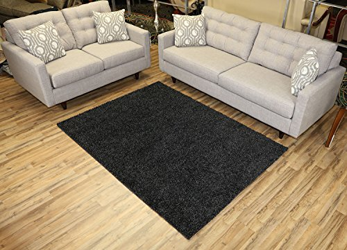 Solid Color Shaggy Collection Anthracite product image