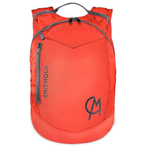 CHICMODA Waterproof Lightweight Packable Durable Travel Hiking Backpack Daypack, Orange