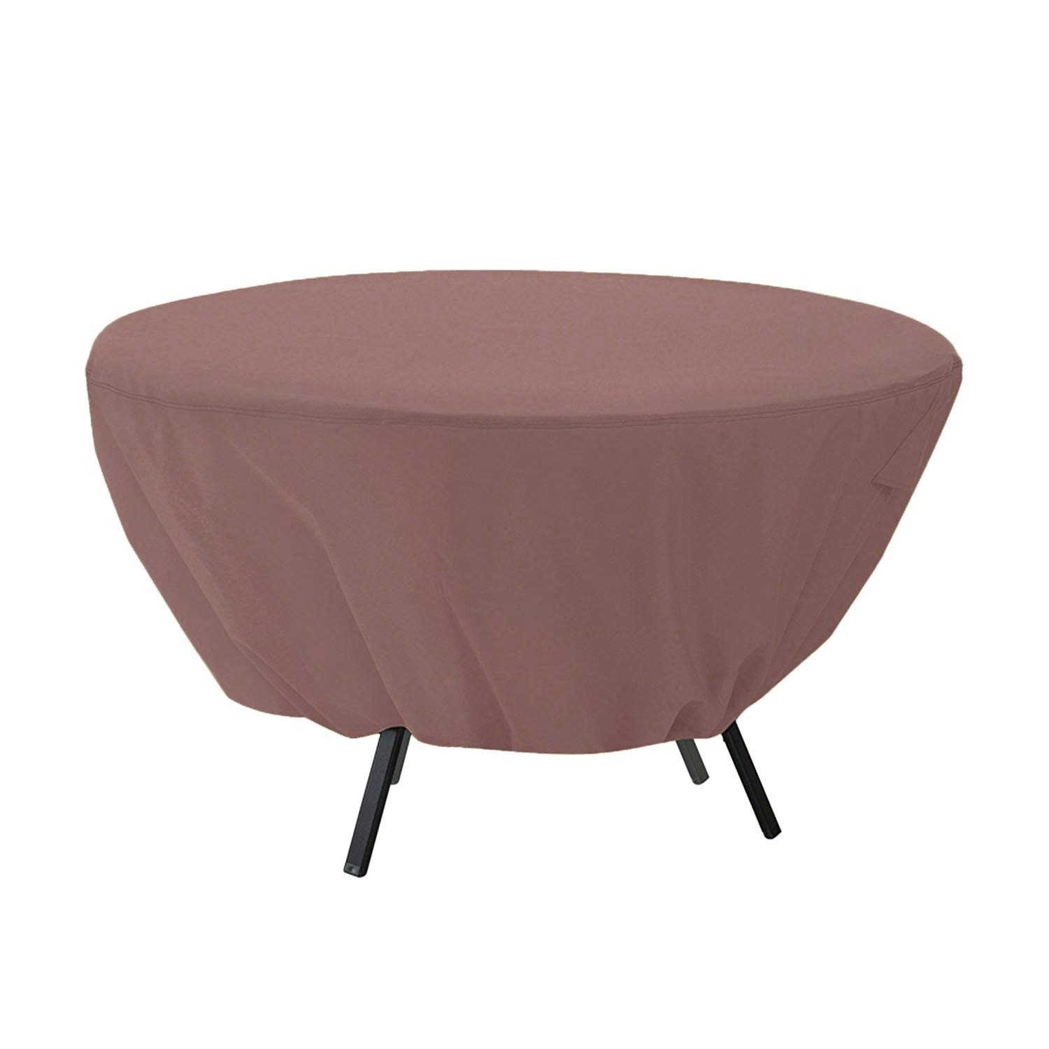 Wodahan Patio Round Table Cover - Tough Canvas Waterproof Anti-Freeze Sunscreen dustproofOutdoor Dining Table Chair Set Cover Size (50×23in)