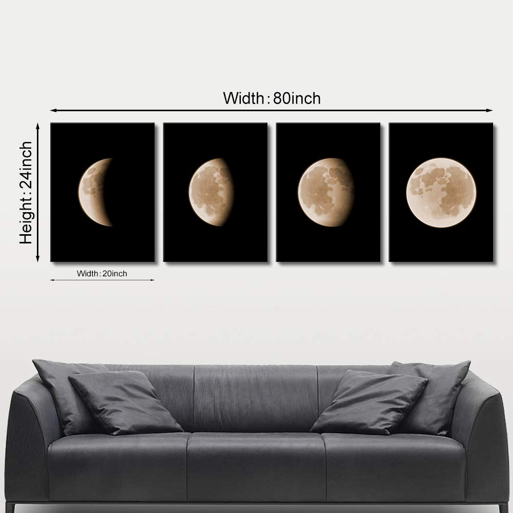 Amazon Com Picabala Moon Canvas Painting Modern Abstract Space Wall