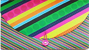 Carolina Pad Dazzle Me - Carpeta archivadora tipo acordeón (A4, 13 compartimentos, 6 unidades), colores azul, rosa y negro