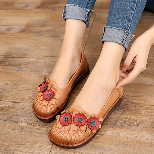 A retro single ladies sole fashion casual leather shoes Comfortable FLYRCX shoes soft flat shoes qnfYOxwUP