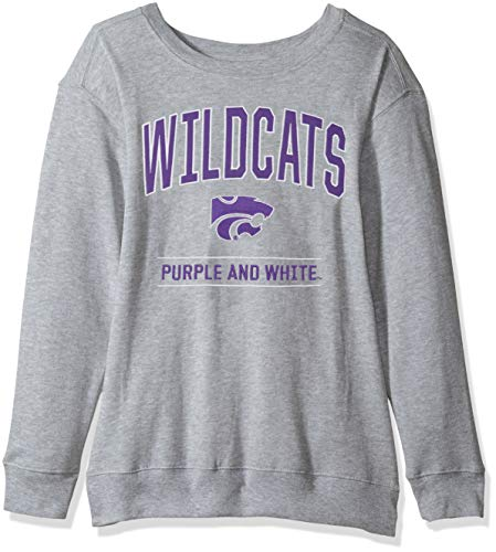 J America NCAA Kansas State Wildcats Womens NCAA Women's Light Weight Oversized Fleece, XX-Large, -
