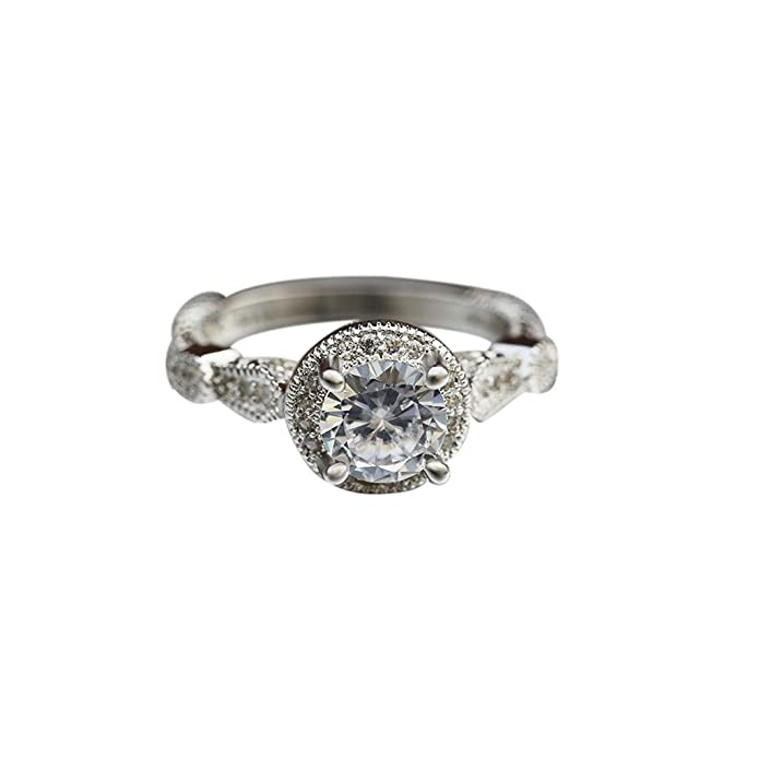 UINGKID Schmuck Damen Ring Mode Luxus Kreative Design Runde Hohl Diamant Zirkon