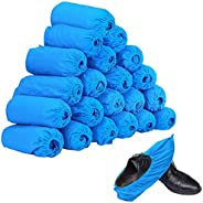 100pcs (50 Pairs) Non-woven Fabric Disposable Shoes Covers Elastic Band Breathable Dustproof Anti-slip Shoe Co