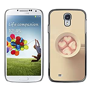 Planetar® ( Marshmallow Minimalist Yellow Pink ) SAMSUNG Galaxy S4 IV / i9500 / i9515 / i9505G / SGH-i337 Fundas Cover Cubre Hard Case Cover