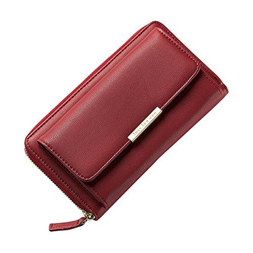 per x quanjucheer donne Pochette rosa 11 ideale e x Pink 5cm similpelle a tinta 5cm Red portafoglio in come unita Wine borsetta moda tracolla o alla ragazze include 19 5 7cm gqrg5Ed