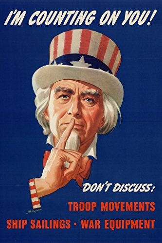 WPA War Propaganda Uncle Sam Im Counting On You Poster 12x18