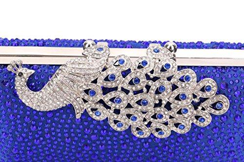 Soirée Pour Banquet Satin Fête Sac Blue Strass Métal Cristal Bijoux De Sacs Toutes Événement Saisons Femmes Acrylique Poly ZHXUANXUAN Mariage Uréthane Formel Onq8gSTw