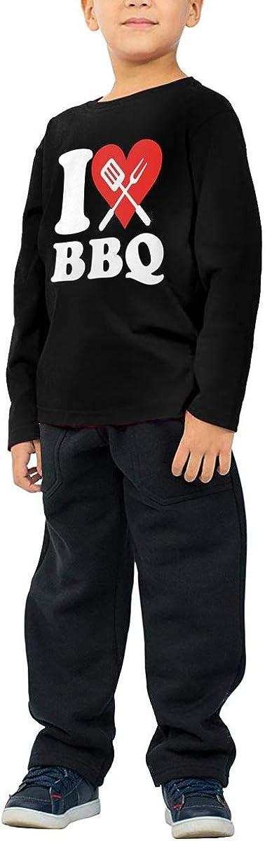 Little Girls I Love BBQ 1-1 ComfortSoft Long Sleeve T-Shirt
