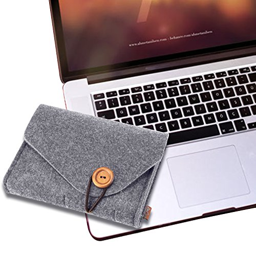ProCase Felt storeroom predicament purse mobile vacation Electronics add-ons Organizer Pouch for MacBook Laptop Mouse ability Adapter Cables ability Bank Cellphone add-ons Charger SSD HHD Grey Bags Cases