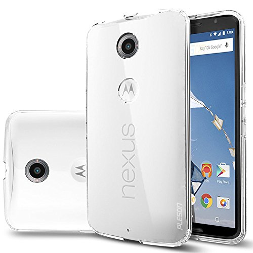 Nexus 6 Case, PLESON [Tou] Google Nexus 6 Case Cover, Super-Thin Premium Crystal Clear Case Lightweight /NO Bulkiness /Shock Absorption /Scratch Resistant Soft TPU Protective bumper Case for Nexus 6