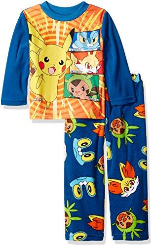 Pokemon Boys' Pikachu and Pals 2-Piece Fleece Pajama Set Photo - Pokemon Gaming