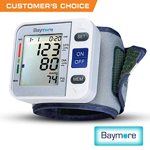 Baymore Digital Wrist Blood Pressure Monitor Cuff Deal (Large Image)
