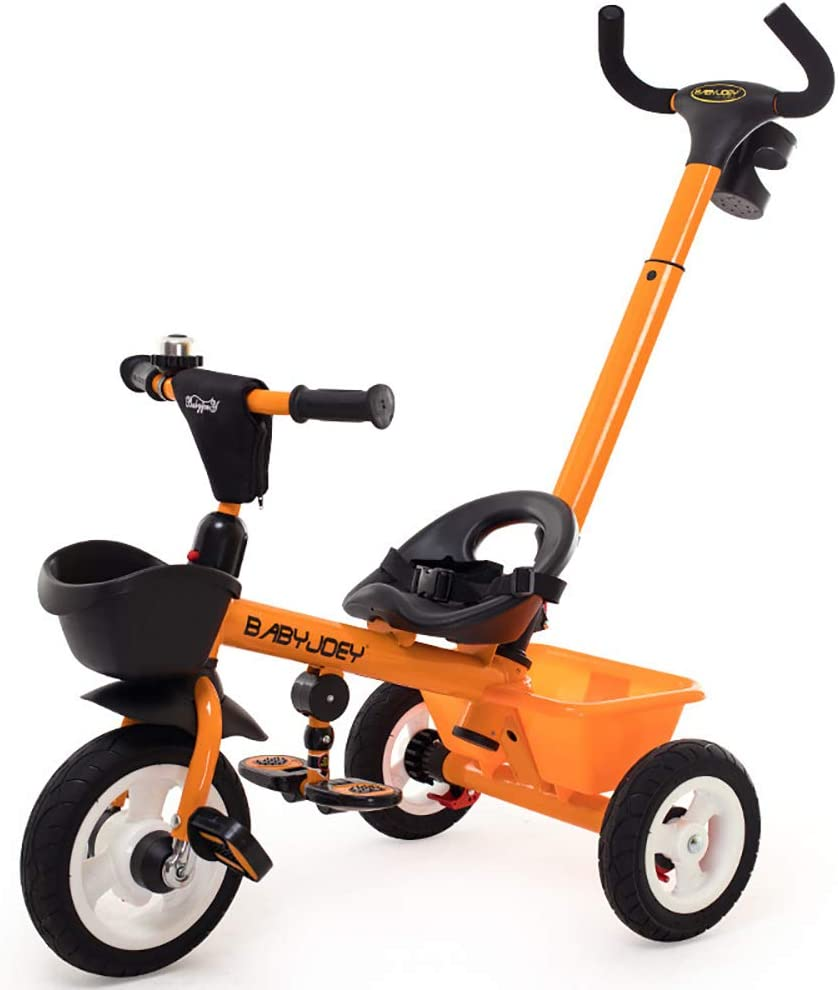 SSLC Bici Triciclo Niño Bebes Evolutivo 3 en 1 Pedal Plegable Triciclo para Niños con Embrague de la Rueda Delantera para Mayores de 12 Meses - 5 años Capacidad de Carga 30KG